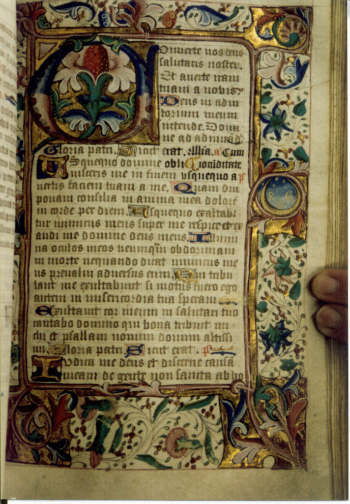 A page of the boies penrose II decorated manuscript.