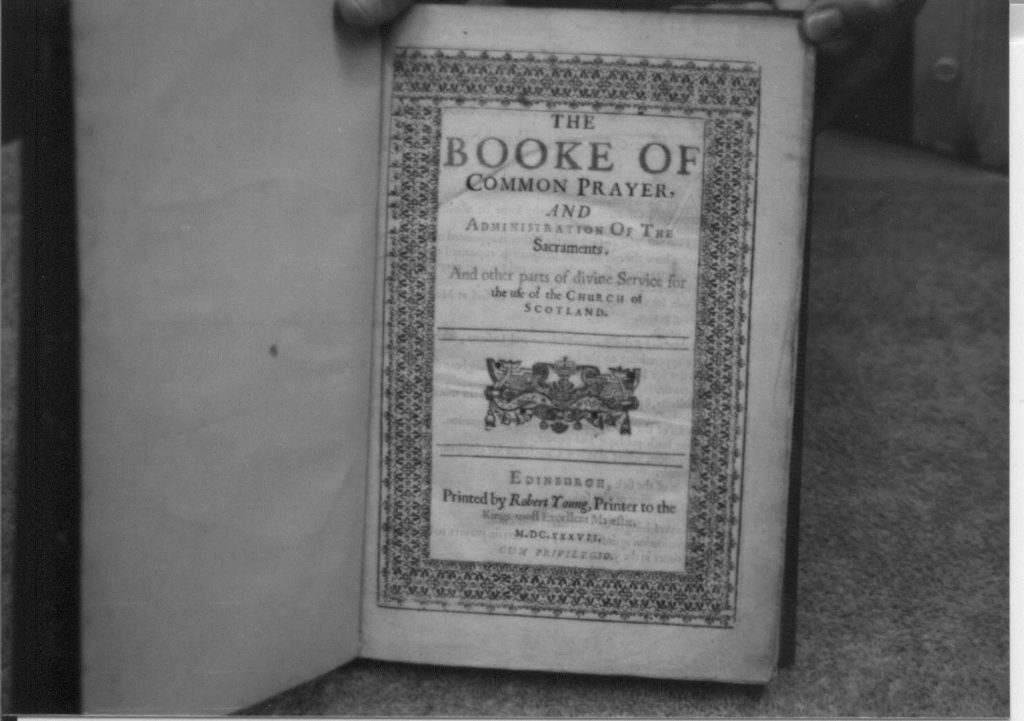 The first page of the book of common prayer scotland 1637.