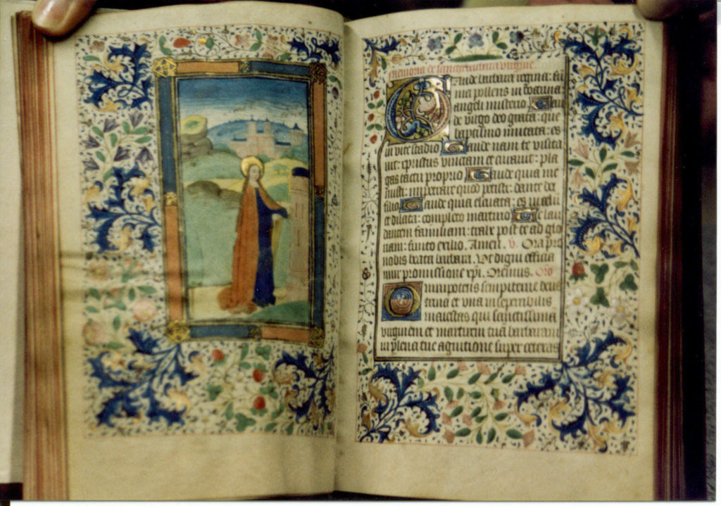 A page of the sarum book of hours
