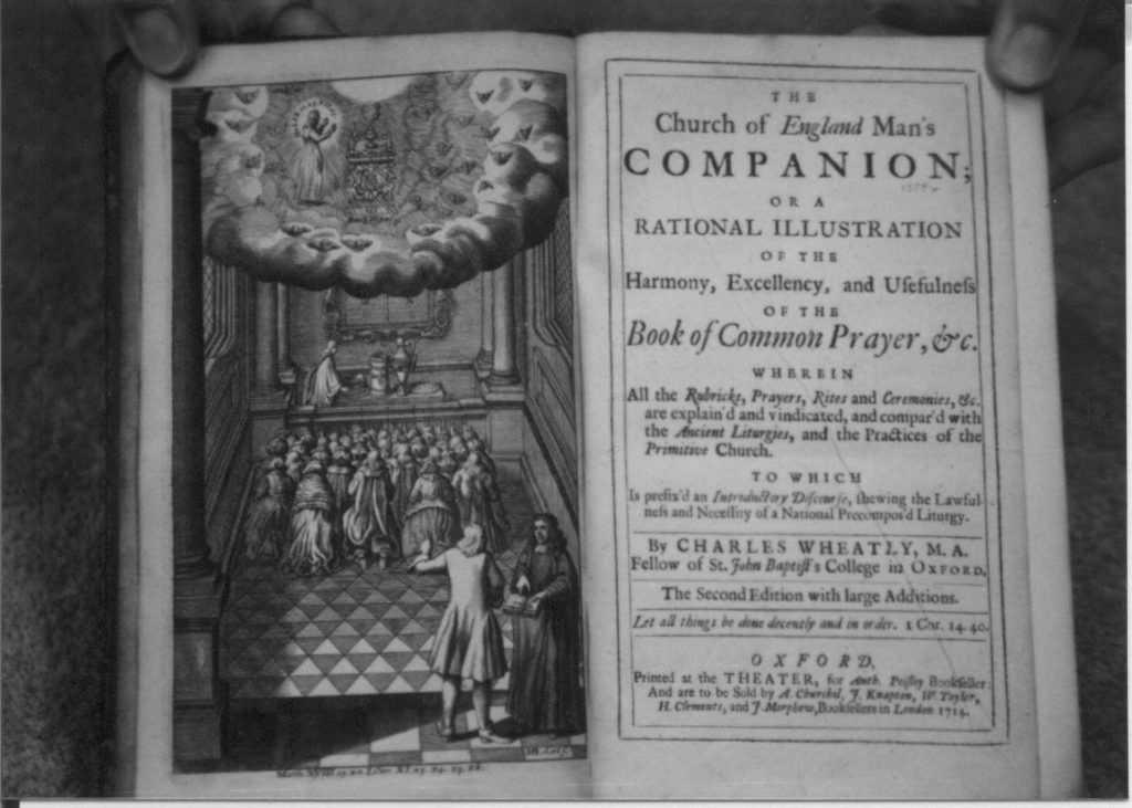 The opening pages of The Church of England Mans Companion 1714.