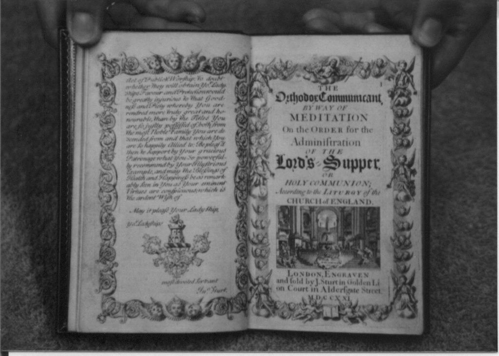 The opening pages of The Orthodox Communicant by Way of Meditation 1721.