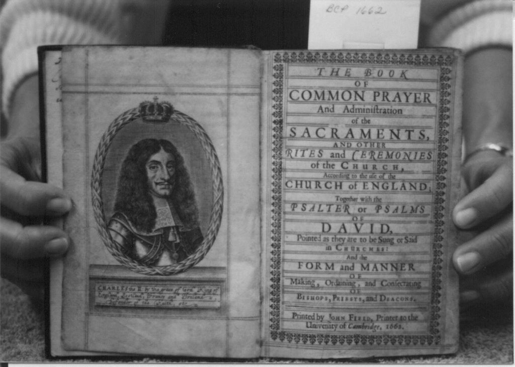 The opening pages of the book of common prayer 1662.