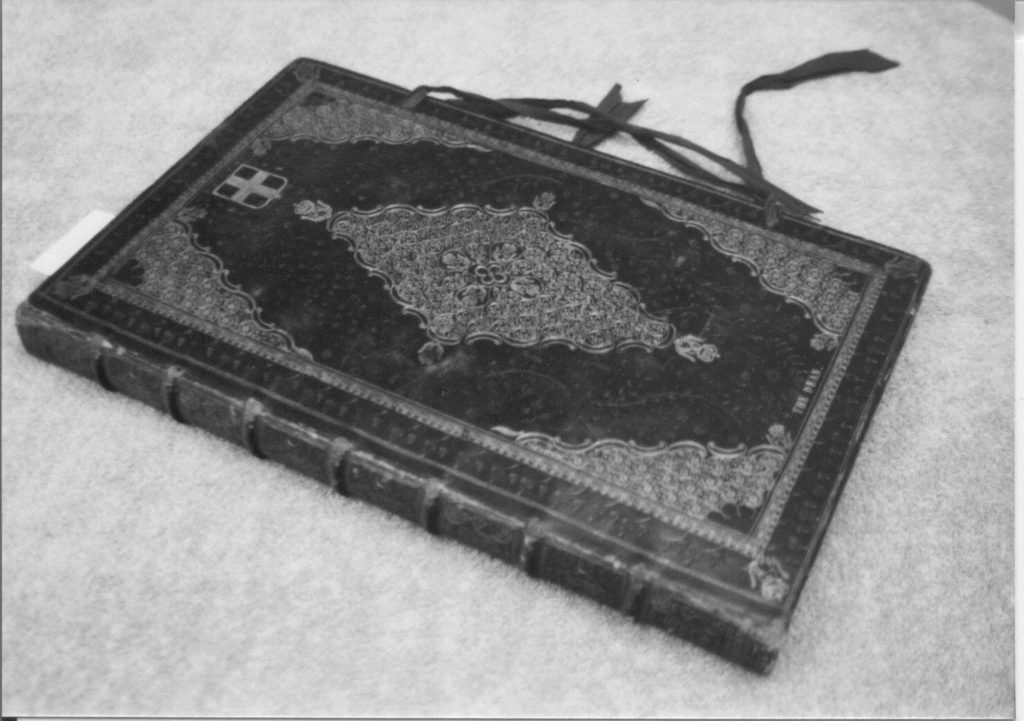 The cover of the book of common prayer 1701.