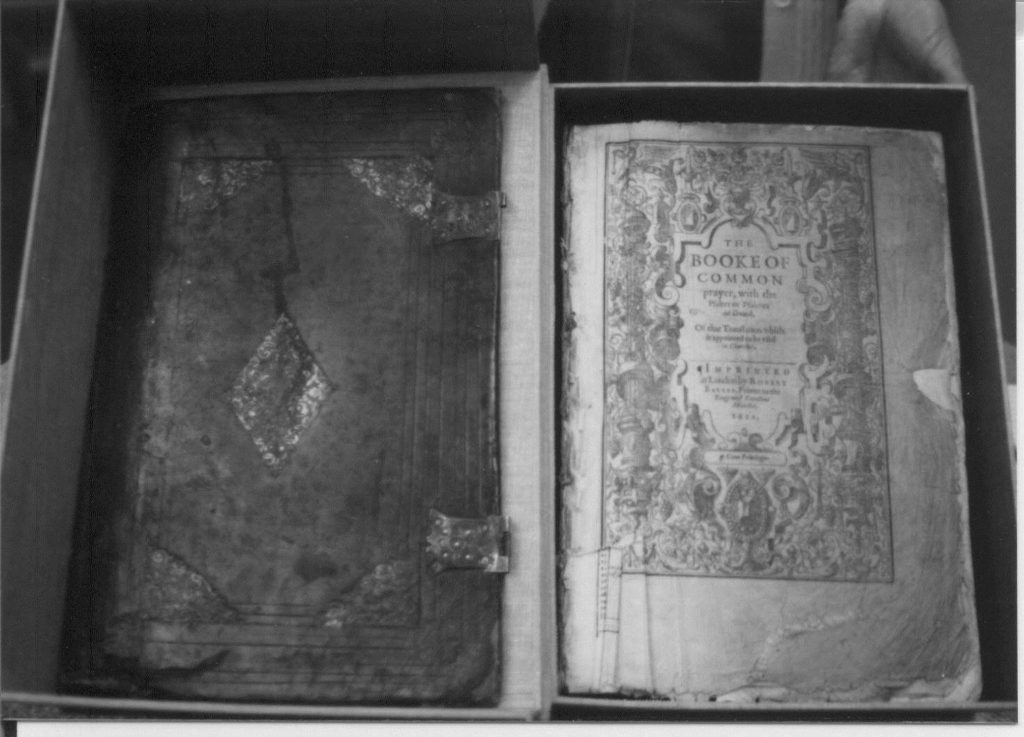 The covers of the breeches bible and the book of common prayer.