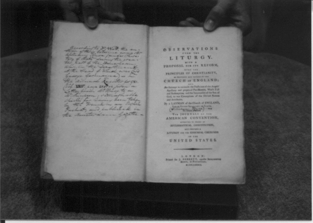 The opening pages of the journals of the american convention.