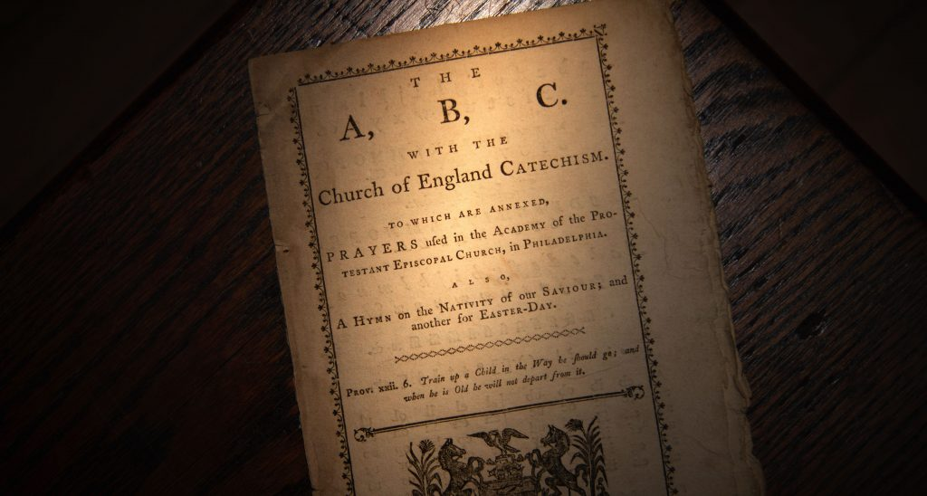 ABC or Primer of The Protestant Episcopal Church, 1785.