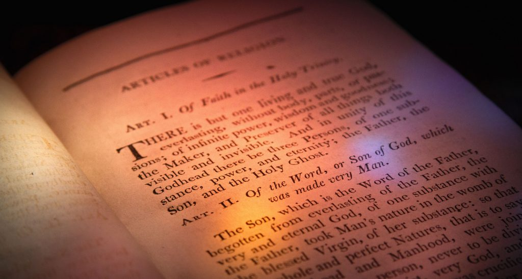 Articles of Religion (American) 1802.