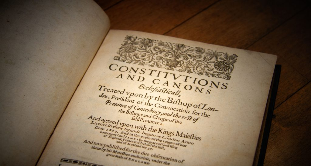 Constitutions and Canons. 1604