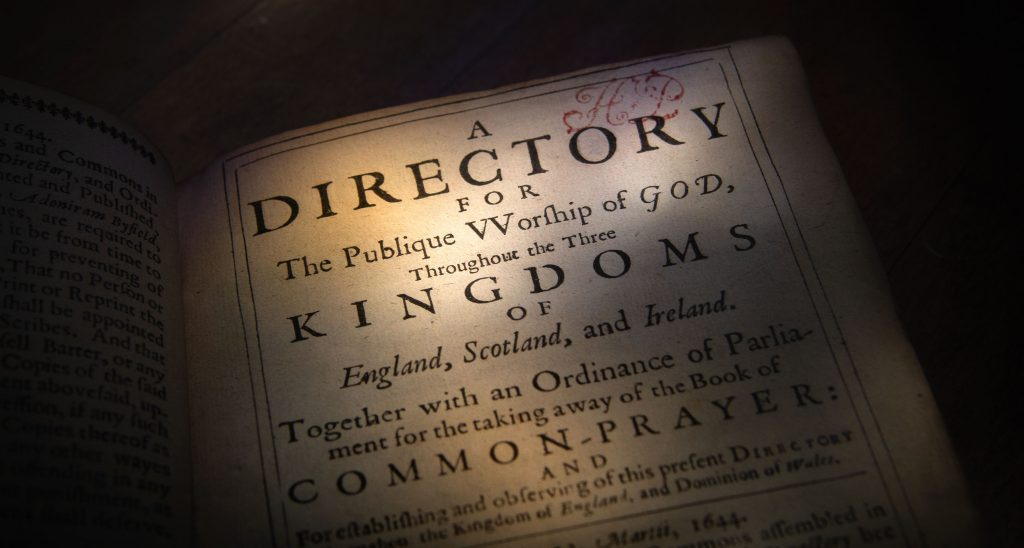 Directory for the Publique Worship of God. 1644
