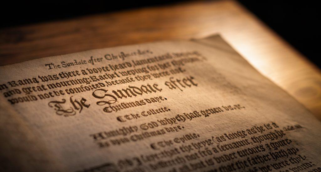 Book of Common Prayer ~ 1552